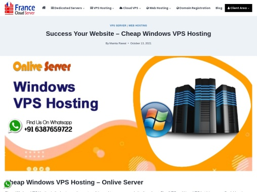 Grow your business website with Cheap Windows VPS Hosting