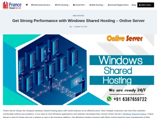 Window Shared  Hosting in Cheap Price and extra large benfits