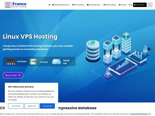 Get best France Linux VPS hosting Plans.
