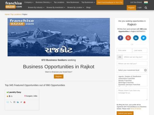 Business opportunities in Rajkot: Franchisebazar