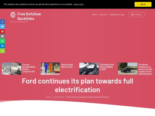 Ford continues its plan towards full electrification