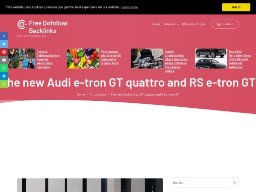The new Audi e-tron GT quattro and RS e-tron GT