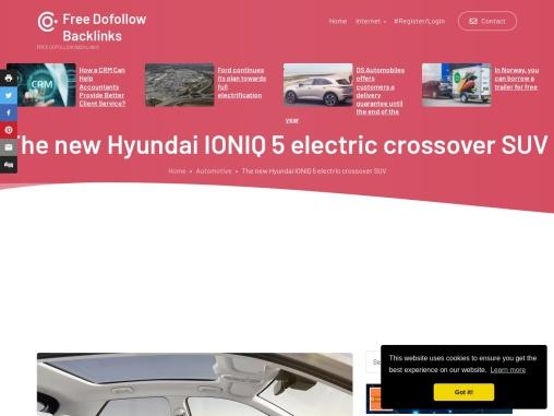 The new Hyundai IONIQ 5 fully electric crossover