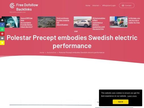 Polestar Precept embodies Swedish electric car performance