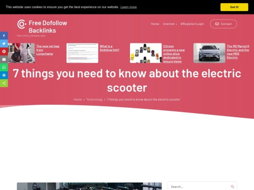 7 things you need to know about the electric scooter
