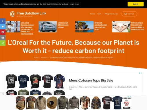 L'Oreal for the future of the planet