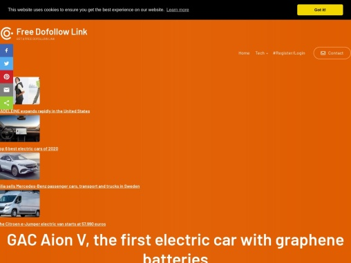 GAC Aion V, the first electric car with graphene batteries