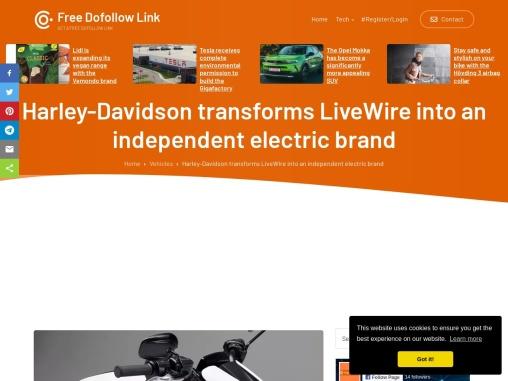 Harley-Davidson transforms LiveWire into a brand