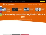 The new and spacious Mustang Mach-E electric SUV