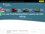 2021 Ford Mustang Mach 1 sports car with 460 hp