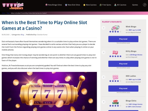 How to Choose The Best Time to Play Slot Games Online?