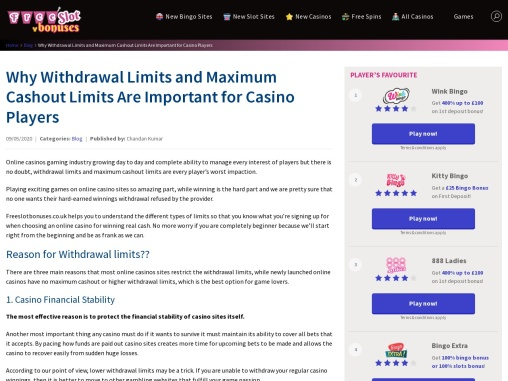 Everything About Casino Withdrawal Limits in the UK | Maximum Cashout Limits