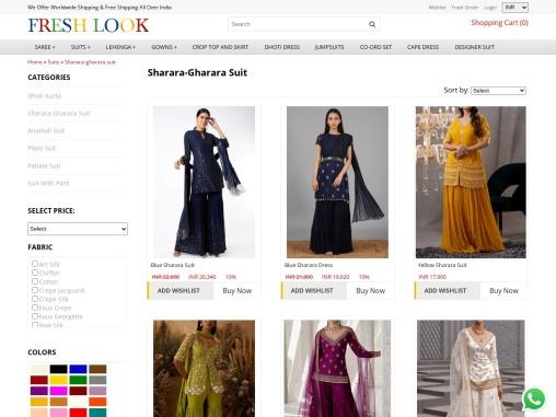 Sharara suits and drape sharara pants dress Buy Online at reasonable price