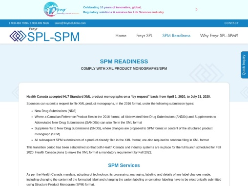 Structured Product Monograph, SPM Format, Health Canada | Freyr SPL