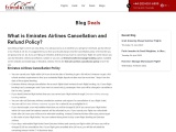 Emirates Airlines Cancellation and Refund Policy