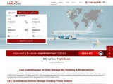 SAS Airlines Manage Booking