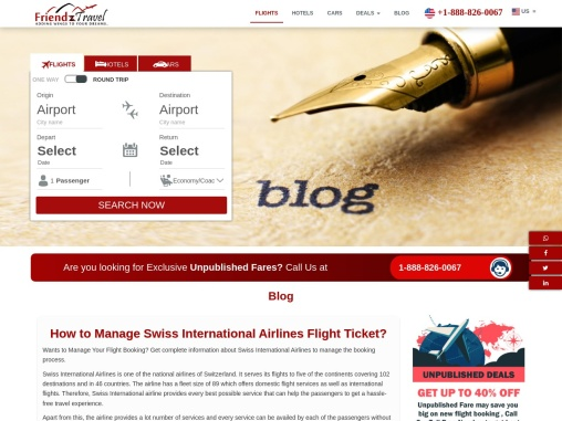 Swiss International Airlines Manage Booking