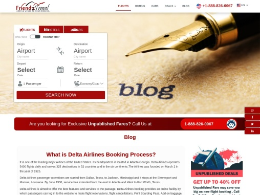 Delta Airlines Booking Process