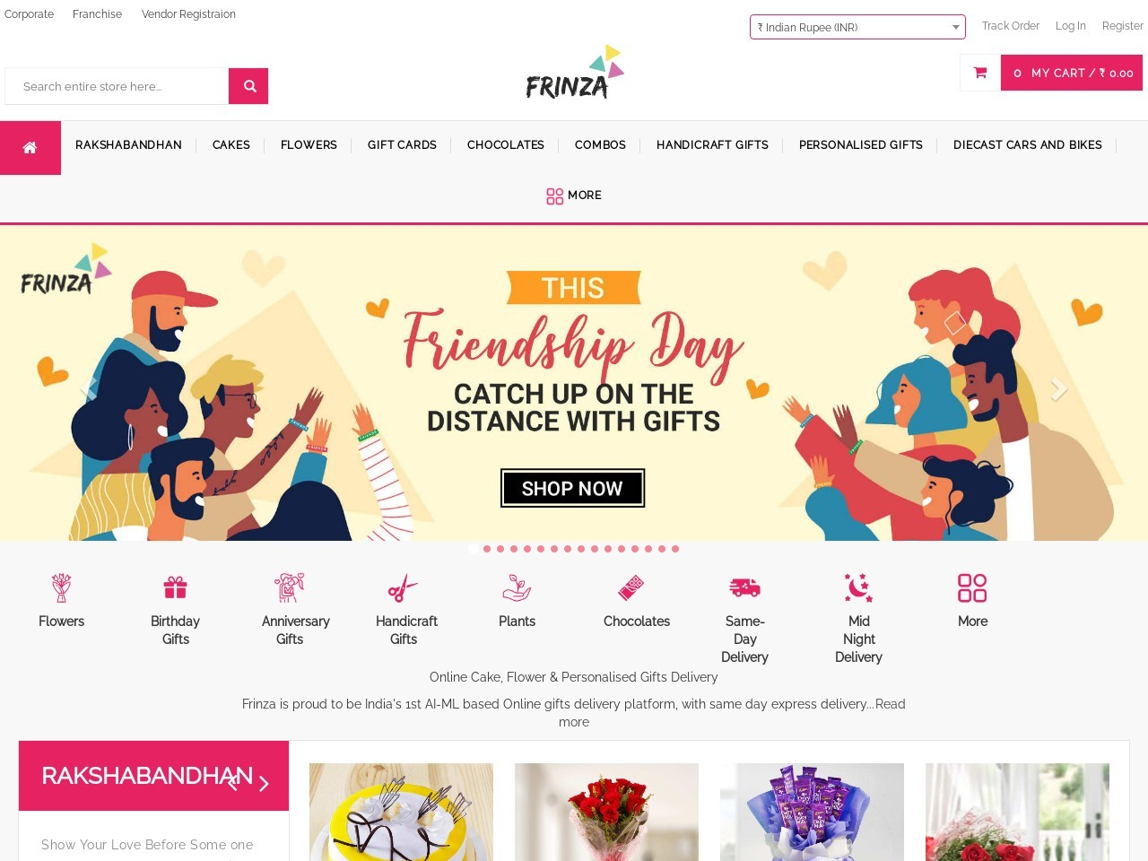 Flowers And Cake Delivery By Frinza -Same Day & Midnight