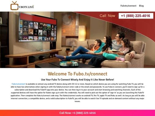 FuboTv Connect enter code – FuboTv