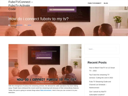 How do i connect FuboTv to MyTv? – Fubo.tv/Connect Code