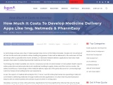 Cost to develop medicine delivery app like Pharmeasy