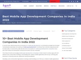 list of mobile apps development companies India