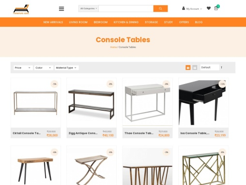 Buy Console Table Online At Best Prices – Furniture Adda
