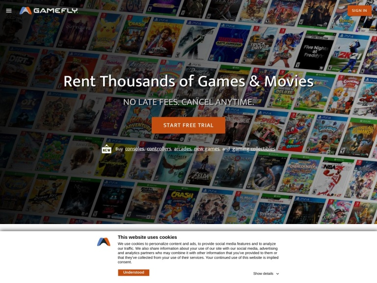 Gamefly - Online Video Game Rentals Coupon Codes & Promo codes