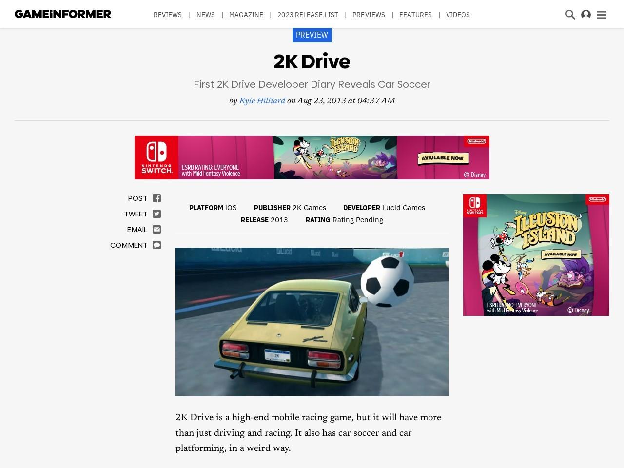 First 2K Drive Developer Diary Reveals Car Soccer – 2K Drive – iOS …