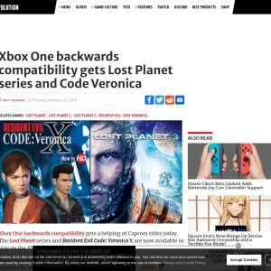 Xbox One backwards compatibility gets Lost Planet series and Code Veronica - GameRevolution