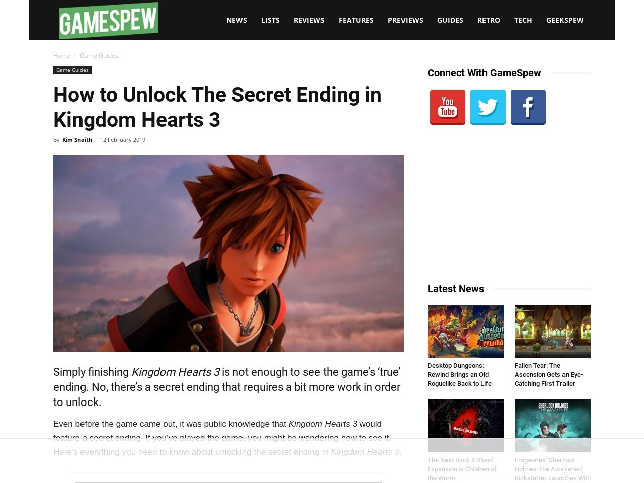 How to Unlock The Secret Ending in Kingdom Hearts 3