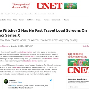 The Witcher 3 Has No Fast Travel Load Screens On Xbox Series X - GameSpot