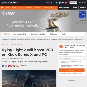 Dying Light 2 will boast VRR on Xbox Series X and PC   GamesRadar+