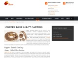 Best Copper Base Alloy Casting Services by Gamma Foundries