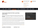 Cost Effective Rapid Prototype Casting Services at Gamma Foundries
