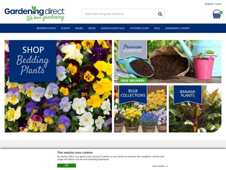 Gardening Direct Free Delivery screenshot