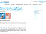 Relation Between High Blood pressure, Diet and Weight loss