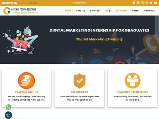digital marketing training with internship programme for graduates