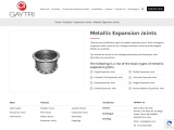 Metallic Expansion Joints – Single, Double, Universal Joints