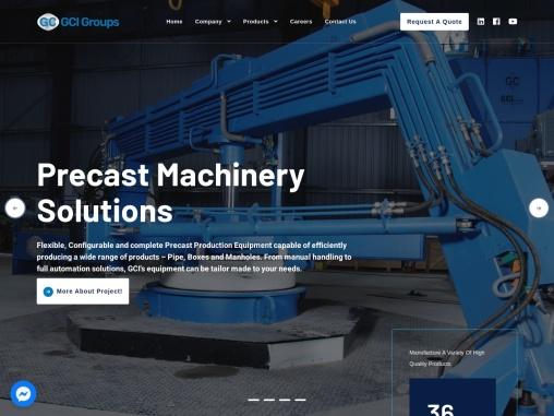 Precast Concrete Product Machine Manufacturer – GCI Groups