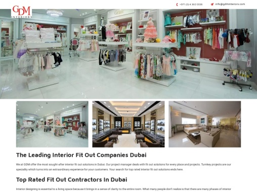 """"""" Interior Fit Out Companies in Dubai"""""""