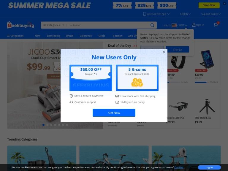 Geek Buying screenshot