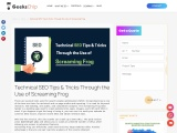 Technical SEO Tips & Tricks Through the Use of Screaming Frog – GeeksChip