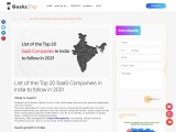 List of the Top 20 SaaS Companies in India to follow in 2021