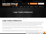Cage Trailers for Sale Melbourne