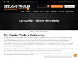 Car Carrier Trailers for Sale Melbourne