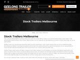 Stock Trailers for Sale Melbourne
