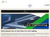 Polycarbonate Seen As Top Choice For LED Lighting
