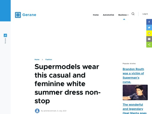 Supermodels wear this casual and feminine white summer dress